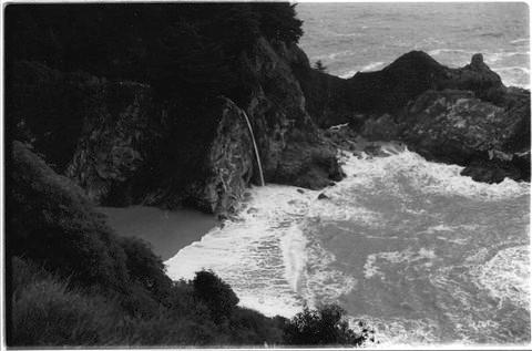Falls at Julia Pfeiffer Burns - Big Sur --photograph