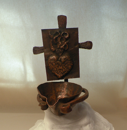 Sacred Heart - forged & fabricated copper