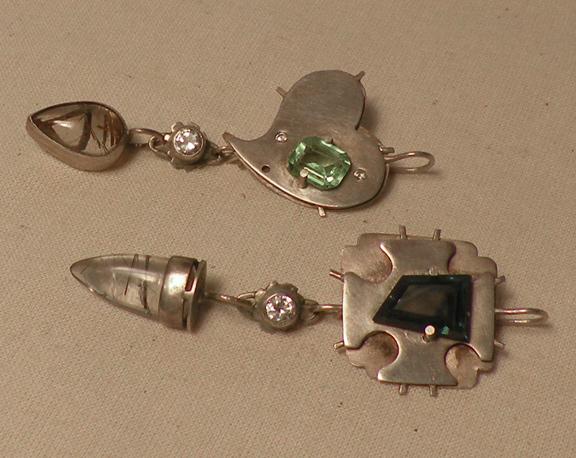 Asymmetrical x Modular set - earrings, pendants