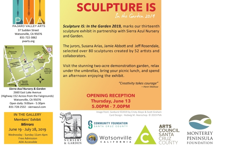Sculpture IS 2019 Announcement - back - map and contact info