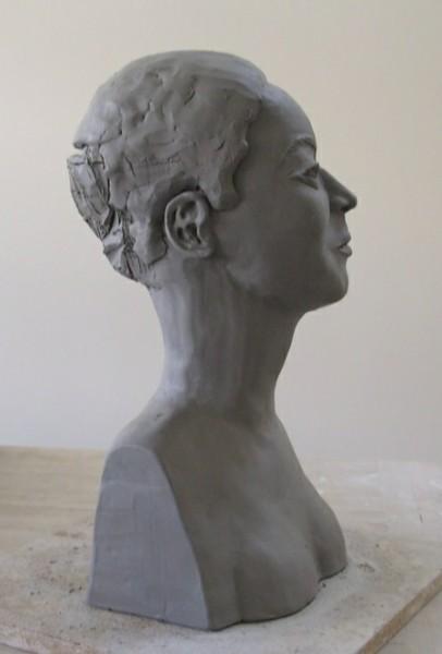 Portrait Bust, in progress