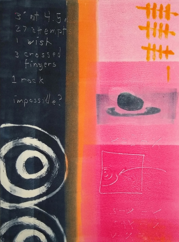 What are the Odds? - monotype - by Cynthia Rand-Thompson